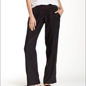 Allen Allen BLACK XS Linen Pull On Pants PERFECT